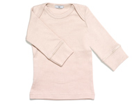 baby boat neck top pink