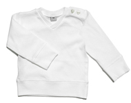 baby v-neck top white
