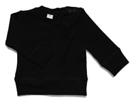baby v-neck top black