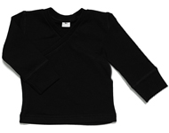 baby wrap top black