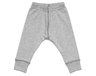 baby leggings light grey melange