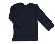 baby boatneck top navy melange