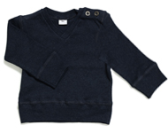 baby v-neck top navy melange