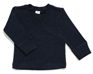baby wrap top navy melange
