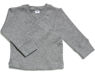 baby wrap top light grey melange