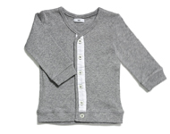 baby cardigan light grey melange