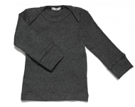 baby boatneck top dark grey melange