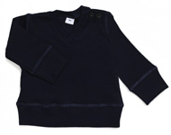 baby v-neck top navy