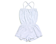 demi short jumpsuit lb/w striped