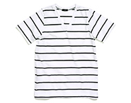 dove t-shirt b/w striped