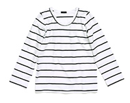 doyle t-shirt b/w striped