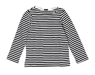 damian sweater b/w striped