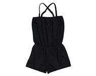 demi short jumpsuit black