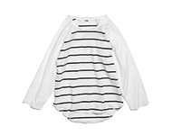 valle shirt black/white striped