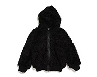 vilda hooded jacket black