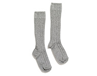 knee socks light grey