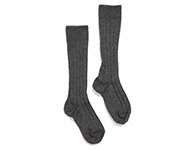 knee socks dark grey