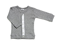 baby cardigan light grey