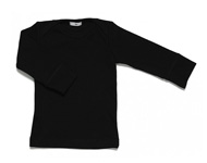 baby boatneck top black