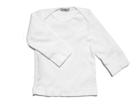 baby boat neck top white