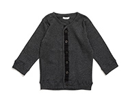 baby cardigan dark grey