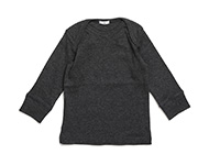 baby boat neck top dark grey