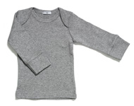 baby boatneck top light grey melange