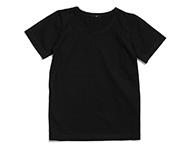 round neck t-shirt black